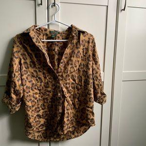 Ralph Lauren leopard print button up shirt